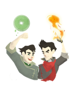 Mako and Bolin by fooshigi