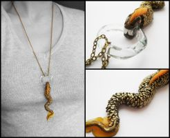 Dragon Snake pendant by GemDeDude