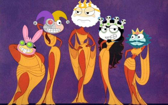 Poptropica's Muses by PurpleClaw750