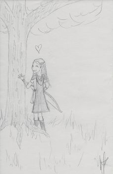 It helps to be a tree hugger by FerretEmpress