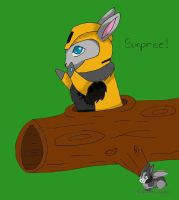 Autobunny Bumble Bee by randomcatgirl