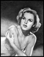 Judy Garland portrait by hellbull