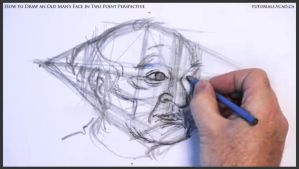 Draw An Old Man's Face In Two Point Perspective 22 by drawingcourse