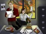 Dinner at the Office by alicelights