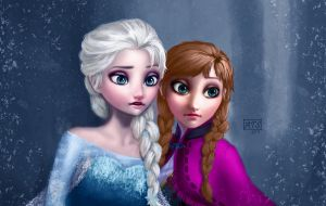 Elsa and Anna (Frozen) by typeATS