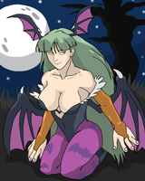 Darkstalkers: Morrigan Aensland by SpongeDudeCoolPants