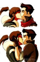 Makorra Kiss by ChristyTortland