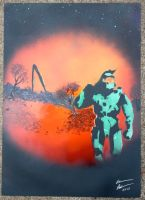 Master chief  spray painting by welikeme23
