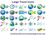 Large Travel Icons by Iconoman