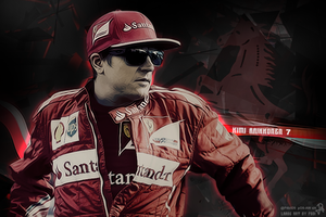 Kimi Raikkonen Large Art by pO9-AW