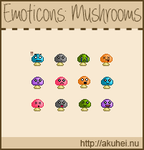 Free Emoticons: Mushrooms by tehmiminator