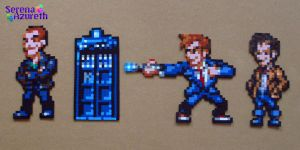 Doctor Who Bead Sprite Set 3 by SerenaAzureth