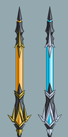 Sword, two color variants by TrizkialEnigma