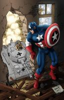 Captain America in World War 2 by statman71