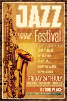 Retro Jazz Flyer by Dilanr
