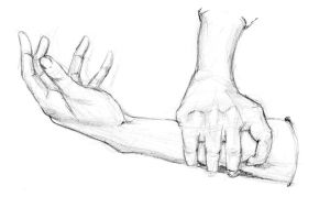 My hands and arms by Chartreuse-Gale