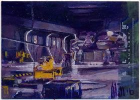 alien anthology oil sketch card 8 by charles-hall