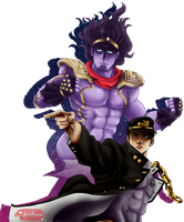 Jotaro Kujo - The stardust crusader by Korhann