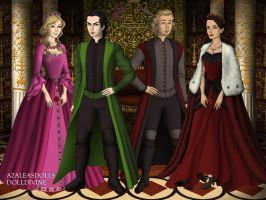 Tudors Series: Willow, Heather, Thor and Loki by Colleen15