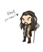 Tiny fierce Thorin by LonelyFullMoon