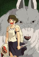 Princess Mononoke - Wolf by Sonda