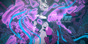 MewTwo Stained Glass Style by eMoneyGraphix
