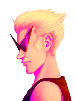 Dirk Strider PRETTY IN PINK by nekokyuuketsuki