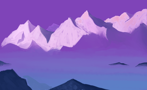Purple Peaks Painted for Practice by vabolo