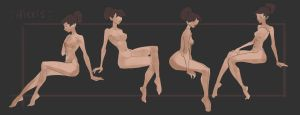 Basic poses(Sit#3 ) by Nieris