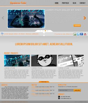 Business Folio Template - PSD For SALE by mazeko