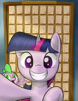 Twilight Sparkle's Wall of Success by LoosePopcorn