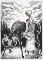 Kullervo and the Wolf by DustyCandy