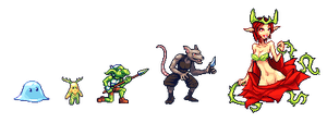 Rpg monsters by Noscium