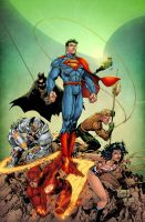 JLA 3 (Variant cover) by AlonsoEspinoza