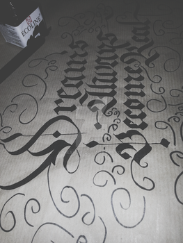 Dreams Always become Real Calligraphy by Milenist