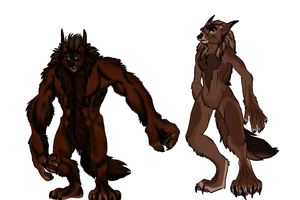 Werewolfy Doodles Coloured by sweentastic