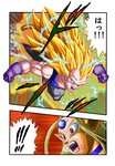 Vegeta super sayajin 3 DBAF by Leackim7891
