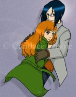 Orihime and Uryu by antoinette721