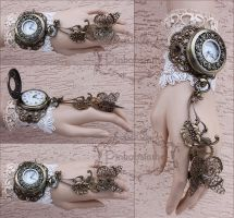 Valentines watch cuff by Pinkabsinthe