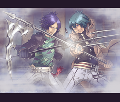 Rokudo Mukuro vs Daemon Spade by Holy-Red-Cockroach