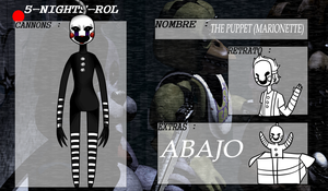 :Ficha: [5NR] -cannon- The Puppet (Marionette):. by Troubled-Cat