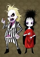 Beetlejuice and Lydia by madstalfos