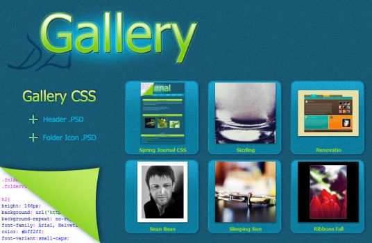 Spring Gallery CSS by VeraCotuna