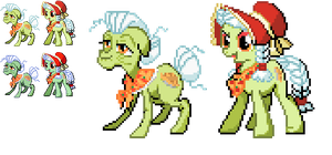 Ponymon Sprites : Granny Apple Smith by DMN666