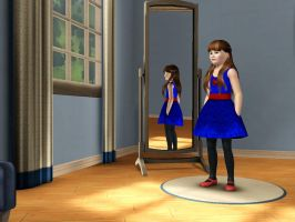 Sims 3 - Denise Nickerson in formal outfit 1 by Magic-Kristina-KW