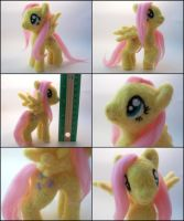 Fluttershy posable needle felted plush by SnowFox102