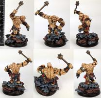 Ogre hunter miniature (Stone Soup) by willytheraccoon