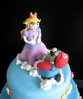 Mario and Peach cake topper by Naera