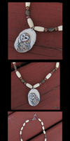 Barn Owl Necklace by MorRokko