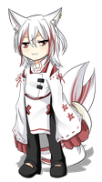 3 Tailed White Fox Adoptable-CLOSED by Kuro-mi96